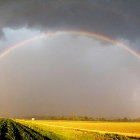 double rainbow by Richard Wright - Landscapes Weather ( delta, cloud, storm, rain,  )