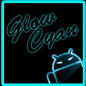 GOKeyboard Theme Glow Cyan
