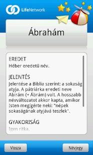 Babanév Kereső Fiú- screenshot thumbnail