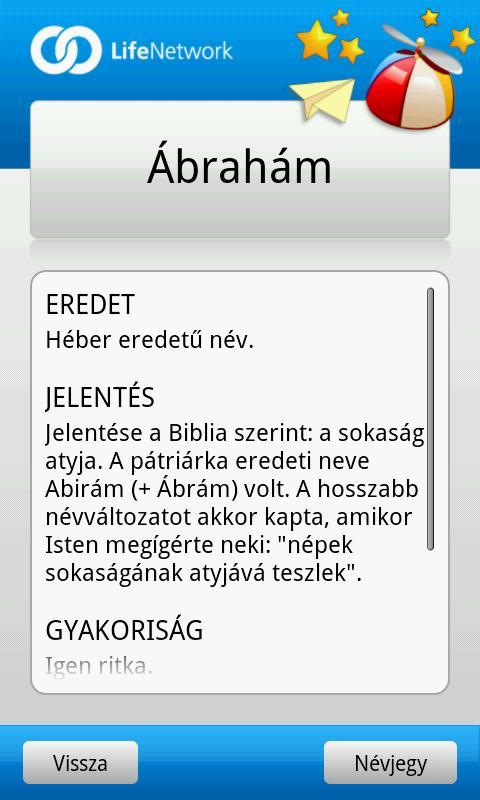 Babanév Kereső Fiú- screenshot