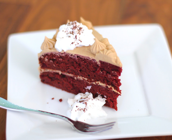 Healthy Red Velvet Cake with a Special Vanilla Protein Frosting Recipe