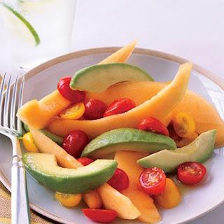 Cantaloupe and Avocado Salad with Honey-Lime Dressing