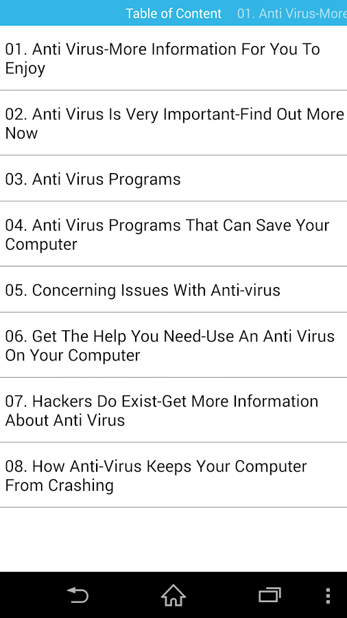 Antivirus Guides 4 Your Device- screenshot