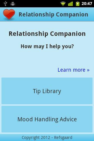 Relationship Companion - screenshot