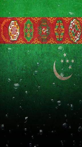Turkmenistan flag water effect