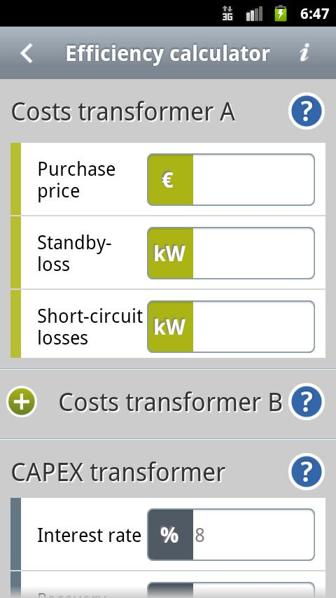Transformers Calculator- screenshot