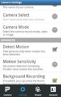 Screenshot of Mobile Security Camera (FTP)
