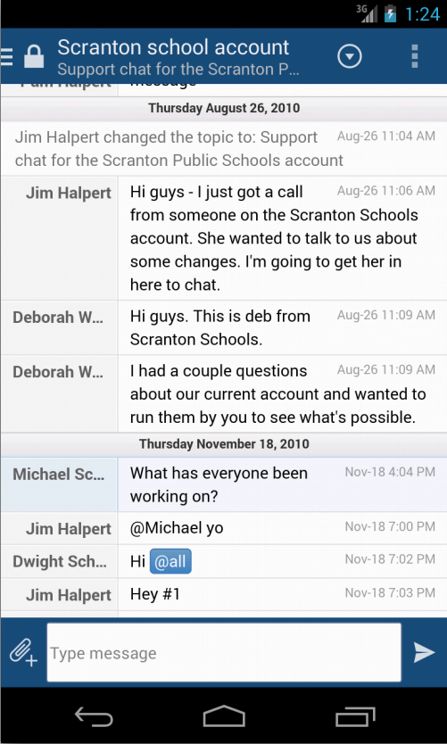 HipChat - screenshot