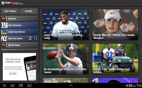 Bleacher Report: Team Stream Screenshot 6