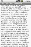 Screenshot of Julius Caesar:War Commentaries