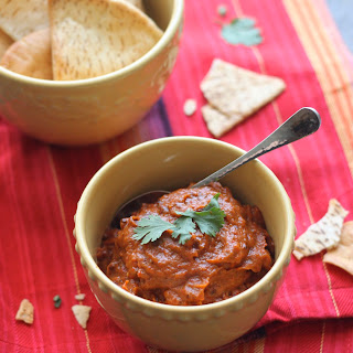 Roasted Eggplant and Red Pepper  Dip.