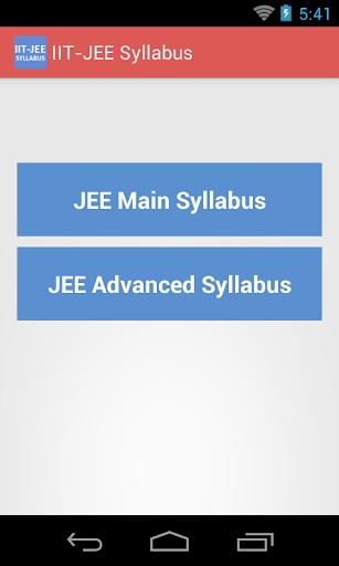 IIT - JEE Syllabus