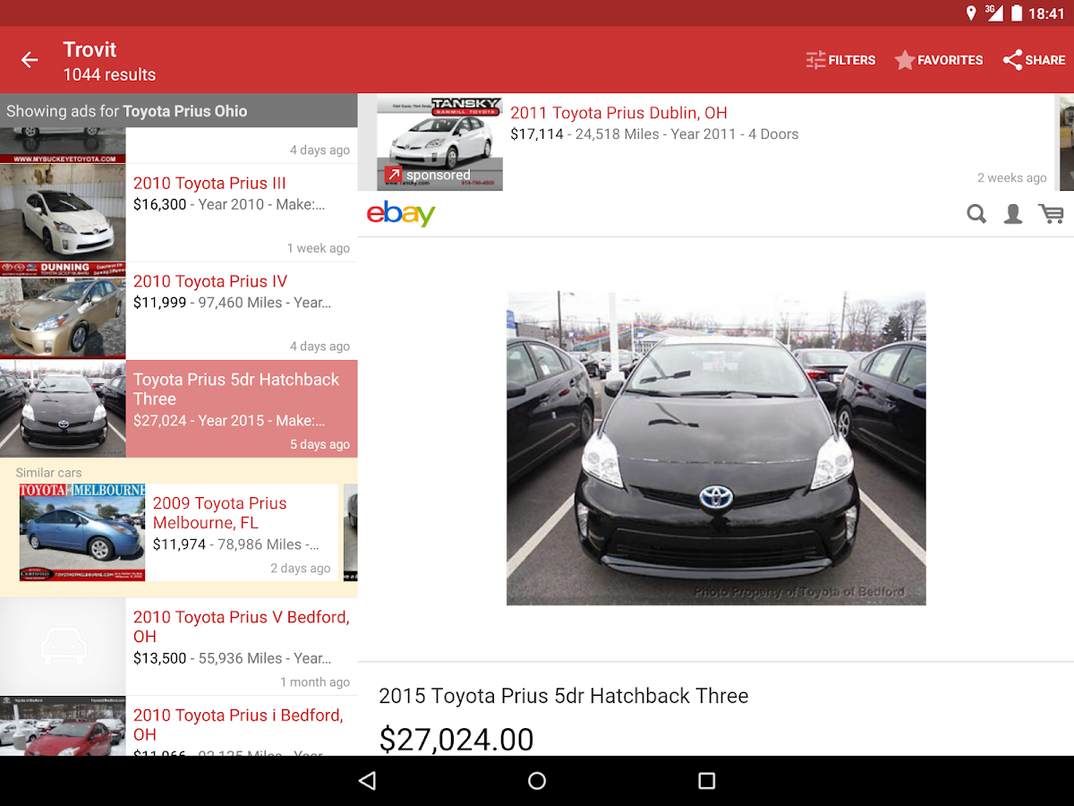 used cars for sale trovit android apps on google play. Black Bedroom Furniture Sets. Home Design Ideas