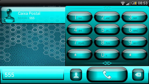 玩個人化App|exDialer Jelly Cyan Theme免費|APP試玩