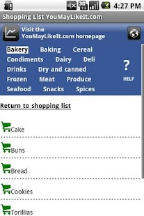 Shopping List YouMayLikeIt.com - screenshot thumbnail