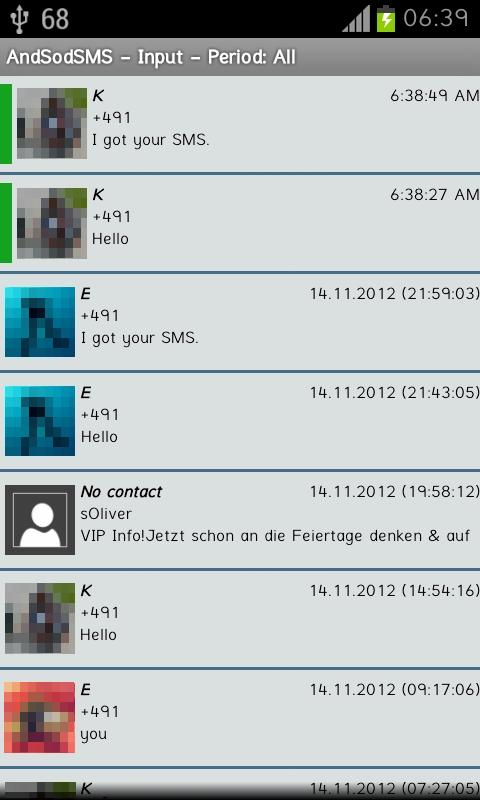AndSod SMS- screenshot