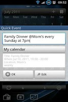 Screenshot of Quick Event