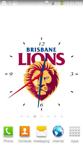 Brisbane Lions Analog Clock
