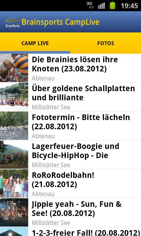 Brainsports Camp Live- screenshot