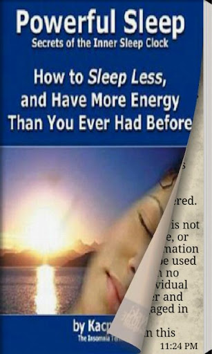 Sleep less have more energy