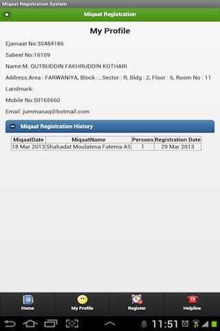 Kuwait Miqaat Registration