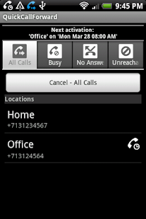 QuickCallForward- screenshot thumbnail
