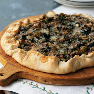 Spring Onion and Morel Galette