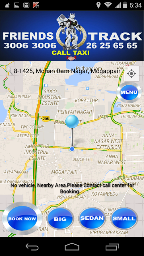 FriendsTrack Call Taxi & Cabs- screenshot