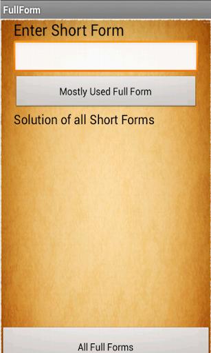 Full Form