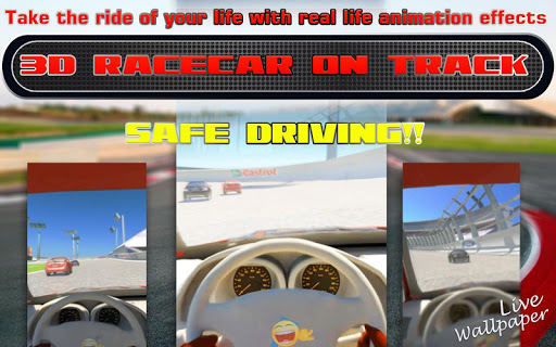 3D Racing Car On Track LWP