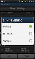 Screenshot of Early Bird Alarm - QR code