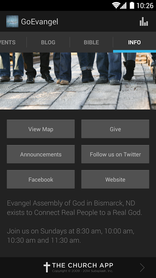 Evangel Assembly of God - screenshot