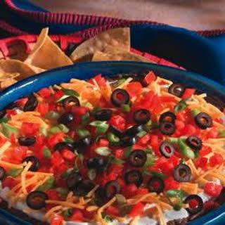 Scrumptious 5-Layer Mexican Dip.