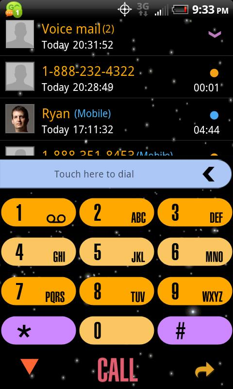 Enterprise GOContacts EX Theme - screenshot