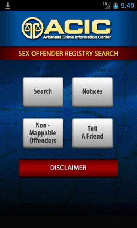 Arkansas Sex Offender Search- screenshot