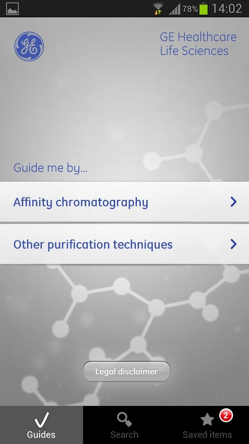 GE purify for android- screenshot