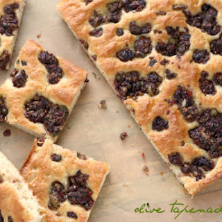 Focaccia Bread with Olive Tapenade