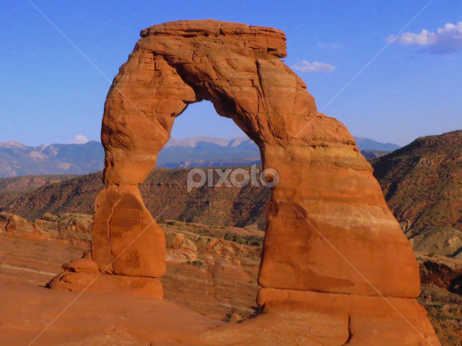 Arch by Holly Dolezalik - Landscapes Travel ( sand, blue sky, red, arches national park, arch, utah,  )