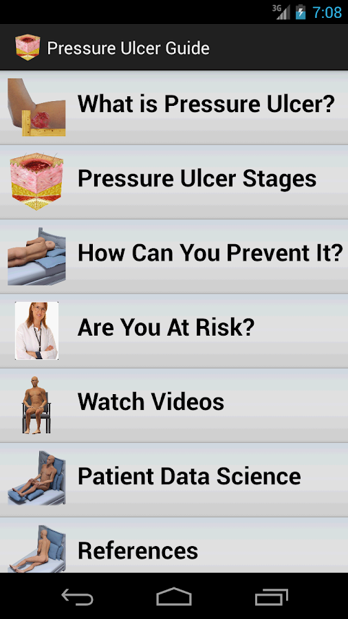 Pressure Ulcer Guide- screenshot