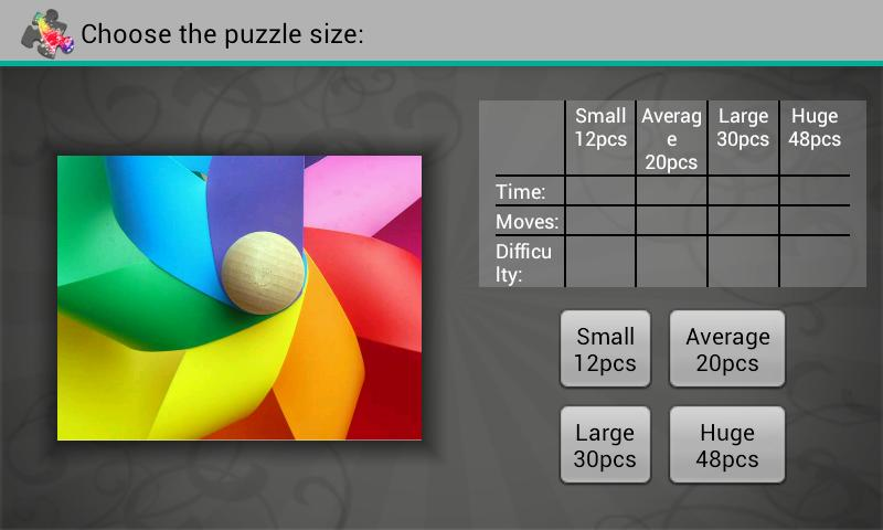 Spectrum Puzzles Demo- screenshot