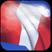 3D Peru Flag Live Wallpaper +