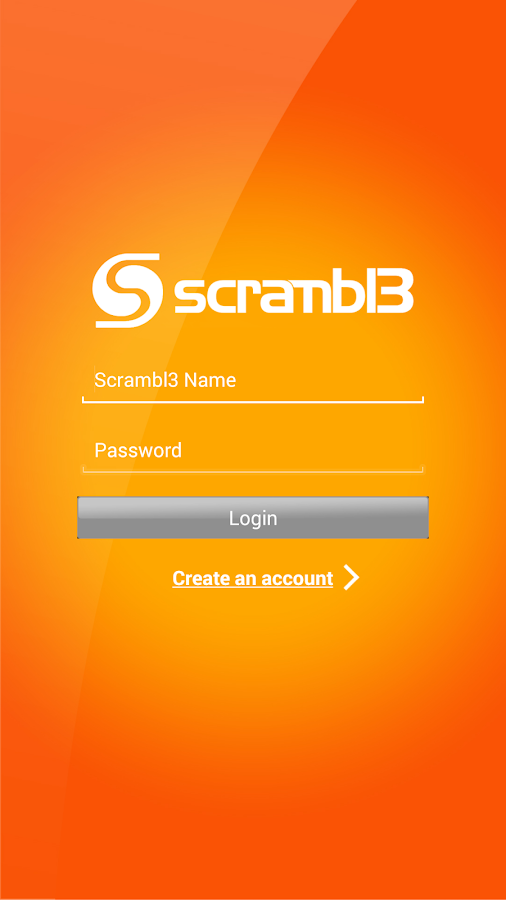 Scrambl3- screenshot