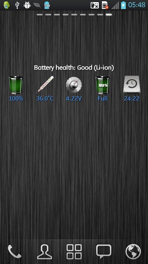 WBatteryWidget- screenshot