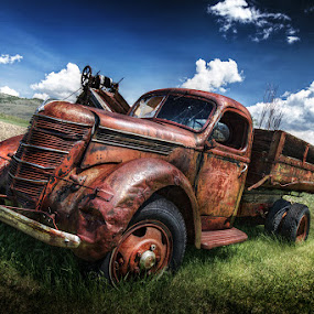 Carl Attrezzi  by Alberto Ghizzi Panizza - Transportation Automobiles ( old, hdr, truck, rusty, abandoned,  )