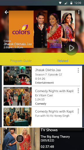 IDEA Live Mobile Tv Online  screenshots 4