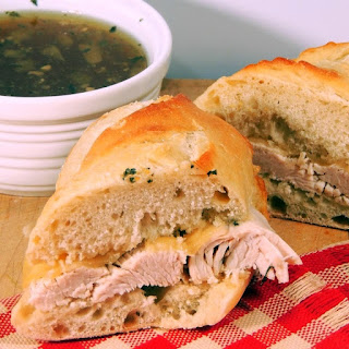 Slow Cooker Turkey Dip Sandwiches