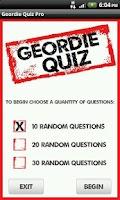 Screenshot of Geordie Quote Quiz