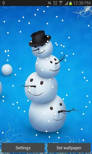 Snowman Live Wallpaper HD