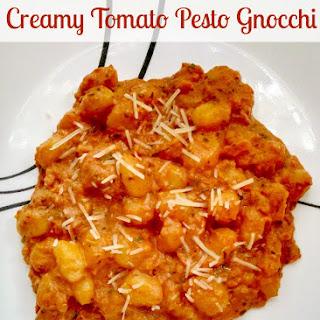 Creamy Tomato Pesto Gnocchi.