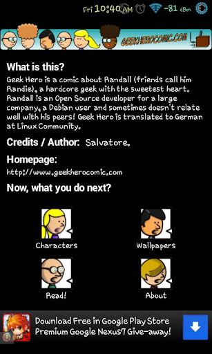 Geek Hero Comic